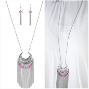 DESERT COYOTE PINK NECKLACE/EARRING SET